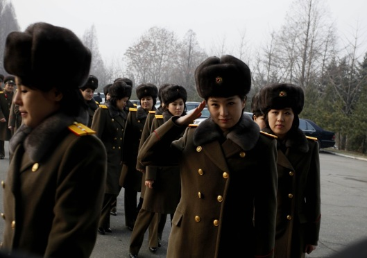 Members of the North Korean girl group Moranbong arrived in Beijing